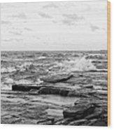 Cold Shore Wood Print