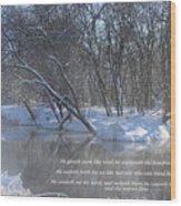 Cold-snow Wood Print
