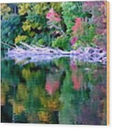 Cold Spring Harbor Reflections Wood Print