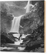 Cold Spring Morning At Kaaterskill Falls II Wood Print