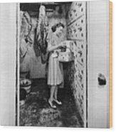 Cold Storage Room, C1940 Wood Print