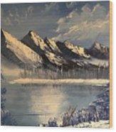 Cold Winter Lake Wood Print