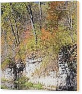 Coldwater Bluffs Wood Print