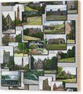 Collage Cornell University Ithaca New York Vertical 02 Wood Print