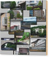 Collage Ithaca College Ithaca New York Vertical Wood Print