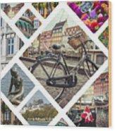 Collage Of Copenhagen  Wood Print