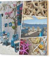 Collage Of Crete  Wood Print
