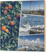 Collage Of Cyprus Images Wood Print