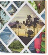 Collage Of Hawaii  Wood Print