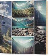 Collage Of Tatra Mountains  Wood Print