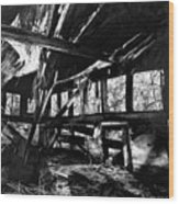 Collapsed Roof Wood Print