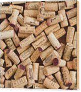 Collection Of Corks Wood Print