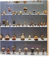 Collection Of Figurines Wood Print