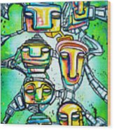Collective Minds Wood Print