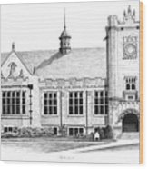 College House Wood Print