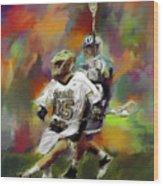 College Lacrosse 13 Wood Print