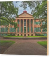 College Of Charleston Main Academic Building Wood Print