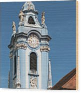 Collegiate Church Blue Tower Wood Print