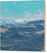 Collegiate Peaks From Little Grouse Mountain Wood Print