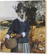 Collie Smooth - Smooth Collie Art Canvas Print - The Harvesters Wood Print