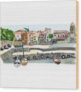 Collioure,    Cote De Vermeille Wood Print