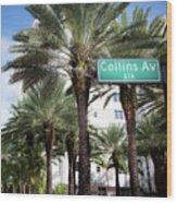 Collins Av A1a Wood Print