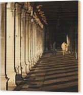 Collonade At San Marco In Venice In The Morning Wood Print