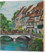 Colmar In Full Bloom Wood Print