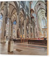 Cologne Cathedral Interior Wood Print