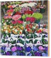 Cologne Flowers Wood Print