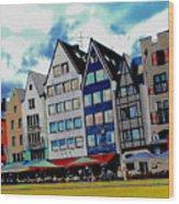 Cologne On The Rhine Wood Print