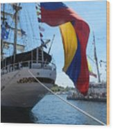 Colombian Tall Ship Wood Print