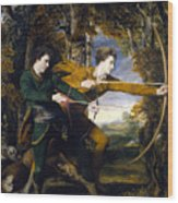 Colonel Acland And Lord Sydney The Archers Wood Print