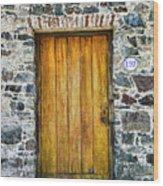 Colonia Old Door Wood Print