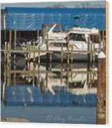Colonial Beach Marina Wood Print