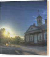 Colonial Courthouse  Wood Print
