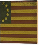 Colonial Flag Wood Print