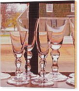 Colonial Glassware Wood Print