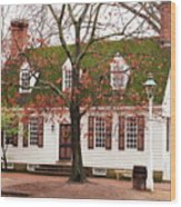 Colonial House Wood Print