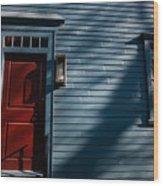 Colonial Red Door Newport Rhode Island Wood Print