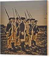 Colonial Soldiers On Parade Wood Print