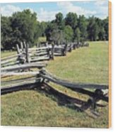 Colonial Zig Zag Fence At Booker T Washingtons Home Wood Print