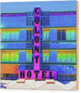 Colony Hotel Palm Wood Print