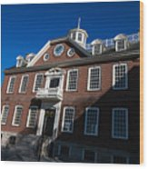 Colony House Newport Rhode Island Wood Print