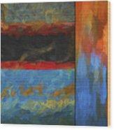 Color Abstraction Li  Wood Print