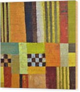 Color And Pattern Abstract Wood Print