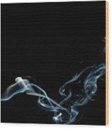 Color And Smoke Vi Wood Print