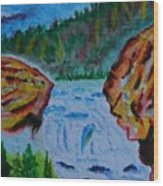 Color At The Firehole Wood Print