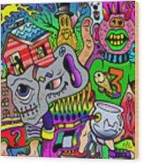 Color Bash Acid Tweeter Wood Print