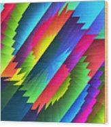 Color Blast Wood Print
